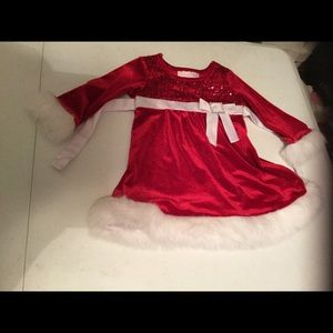 Bonnie baby Christmas outfit